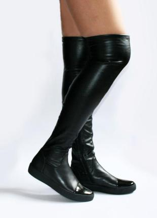 Высокие сапоги-ботфорты respect оригинал. натуральная кожа. 36, 375