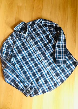 Мужская рубашка в клетку colin's с длинным рукавом большого размера xxl
