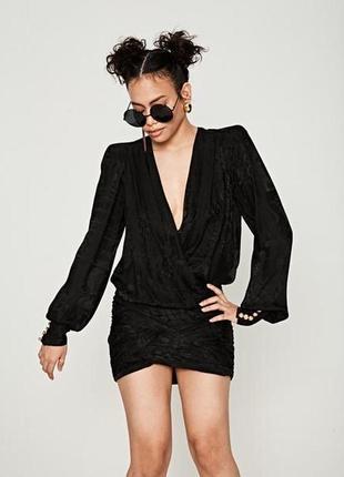 Balmain x hm шёлковое платье коктейльное акция до 14/12!!!