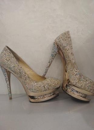 Нарядные туфли для выступлений gianmarco lorenzi