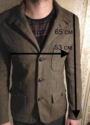 Тёплый брендовый мужской пиджак