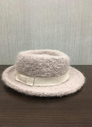 Шляпа теплая, шляпа на осень/зиму, пастельного цвета шляпа, идеальная шляпа