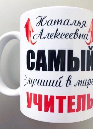 Чашка подарок на день учителя