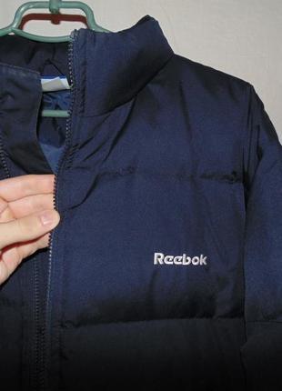 Пуховик куртка натуральный пух reebok оригинал по сути  новый