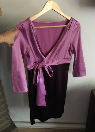 Стильное шёлковое платье,размер м