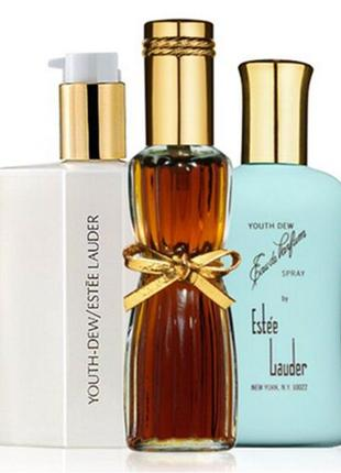 Estee lauder youth dew body satinee lotion 92ml, оригинал, крем сатин для тела,стекло!
