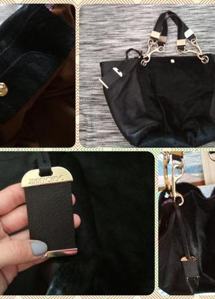 Брендовая кожаная сумка шоппер jimmy choo