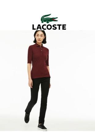 🔥скидка🔥 оригинал lacoste черные классические джинсы брендовые брюки скинни