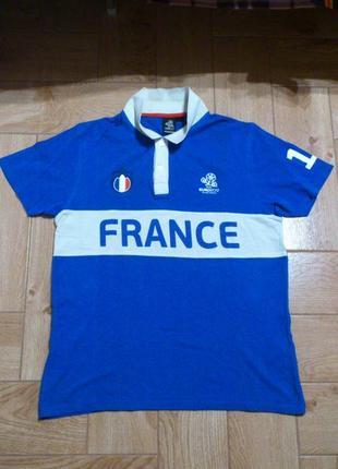 Поло polo футболка тенниска france euro 2012 poland - ukraine сборная франции