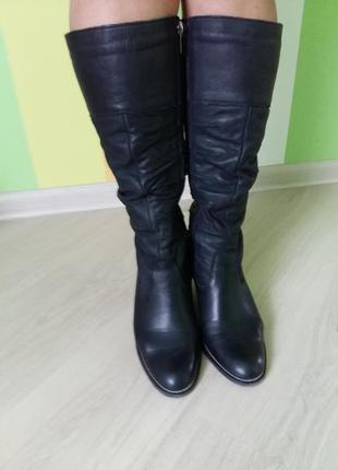 Сапоги женские кожаные бу