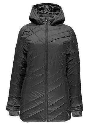 Удлиненная куртка spyder. оригинал. размер с. осень-весна. цвет серый