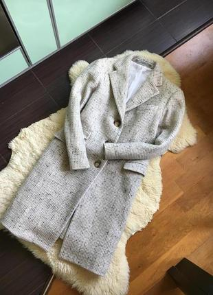 Шерстяное бойфренд пальто cantarelli италия оригинал люкс сегмент