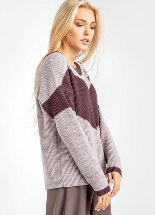 Лиловый джемпер/свитер, размеры 42-56