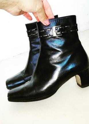 Кожа шикарные ботинки сапоги кожаные италия everest обувь на каблуке