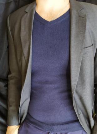 Strellson стильный приталенный мужской пиджак