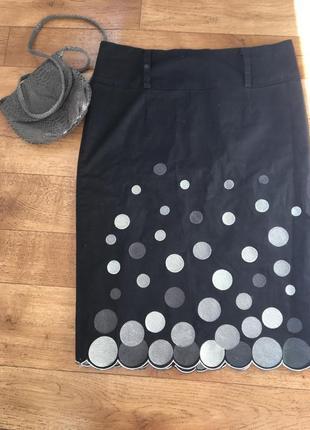 Юбка lucy paris. юбка с вышивкой. юбка карандаш.1 фото