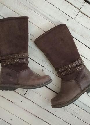 Ботинки сапоги chicco натуральные кожаные для девочки