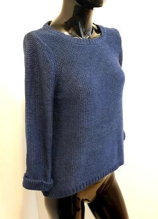 Джемпер свитер пуловер с укороченным рукавом