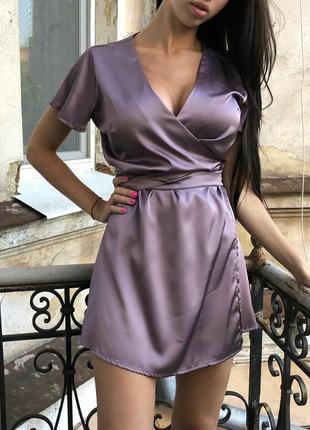 Шелковое платье халат