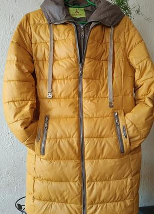 Теплая удлиненная куртка