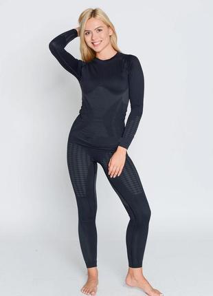 Термобелье женское спортивное haster , комплект, зональное, бесшовное, жіночий термоодяг