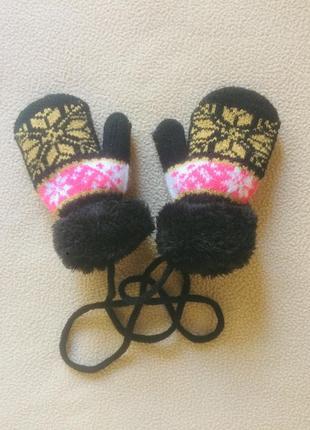 Очень тёплые варежки / рукавицы на ребёнка