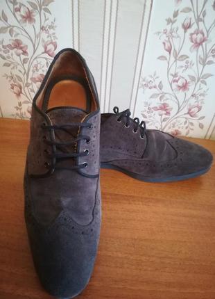 Супер классные лоферы, туфли, броги мужские 40р zara