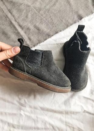 Замшевые осенние ботинки сапоги zara baby