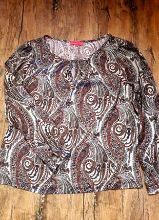 """Блуза стильный принт """"огурцы  фирма"""" van den berth"""
