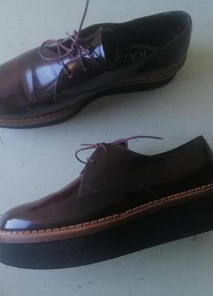 Tod's кожаные туфли 39,5 tods