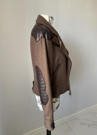 Куртка шерсть и кожа christian dior оригинал