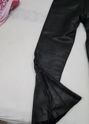 Кожанные брюки для мотоциклистов