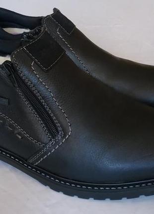 Теплые зимние ботинки rieker, кожа, шерсть, 46 р