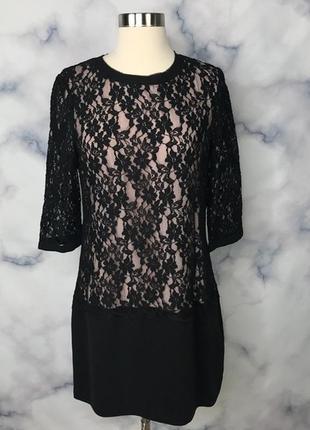 Черное кружевное платье ted baker1 фото