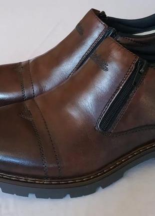 Теплые зимние ботинки rieker, кожа, шерсть, 41 р