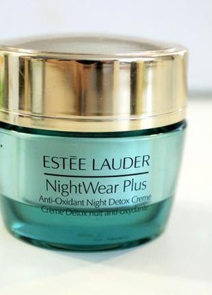 Ночной детокс-крем с антиоксидантами estee lauder nightwear