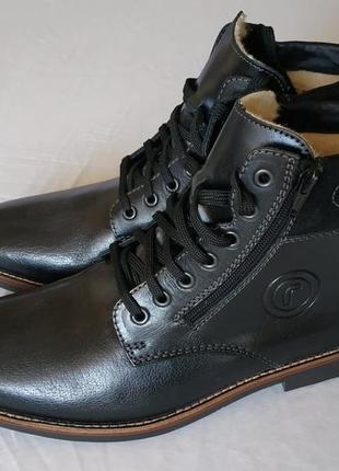 Теплые зимние ботинки rieker, кожа, шерсть, 43 р