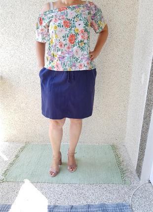 Летняя юбка 55%лён