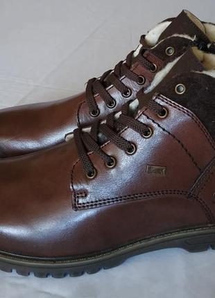 Теплые зимние ботинки rieker, кожа, шерсть, 42 р