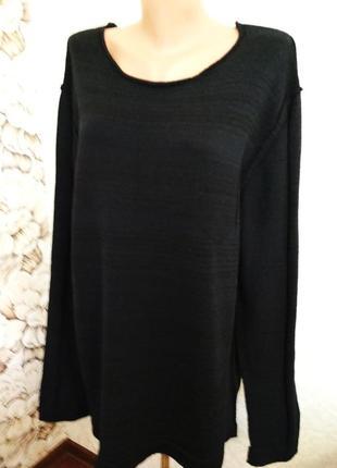 Стильный мужской свитер, джемпер, хлопок, швы наверх. 1+1= 50% скидки на 3ю вещь.