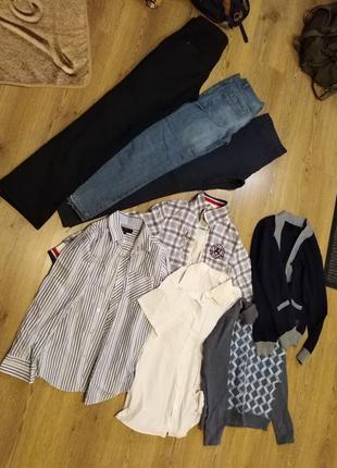 Пакет деми вещей для мальчика 10-13 лет,курточка,штаны,рубашки,кофты.