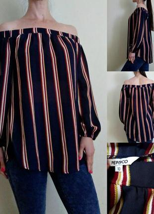 Лёгкая блуза с открытыми плечами 10