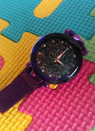 Годинник жіночий star starry sky (часы женские звездное небо) металевий