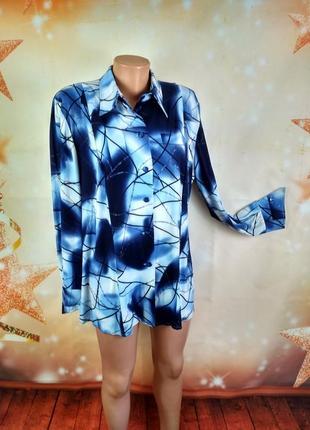 Трикотажная очень красивая блузка 54-56р