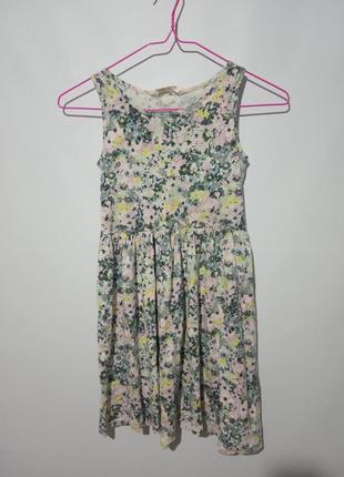 Платье в цветочек 8-10 лет