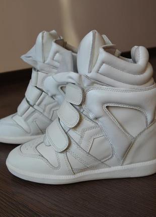 Сникерсы  ботинки натуральная кожа isabel marant оригиналы