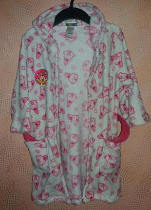Флисовый халат с капюшоном bumba, размер 98/104