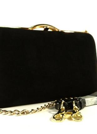 165080c4398c Замшевый клатч черный, сумочка shengkasilu 61873, цена - 999 грн ...