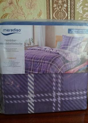 Теплое постельное белье, комплект пододеяльник + наволочка, meradiso германия