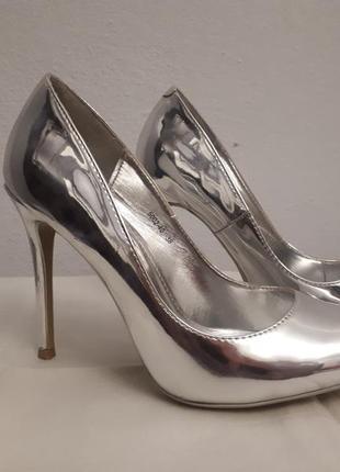 Туфлі срібні